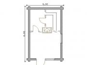 .баня 4х6 м план