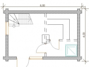 проект бани 4х6 м