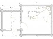 баня 6х6м план